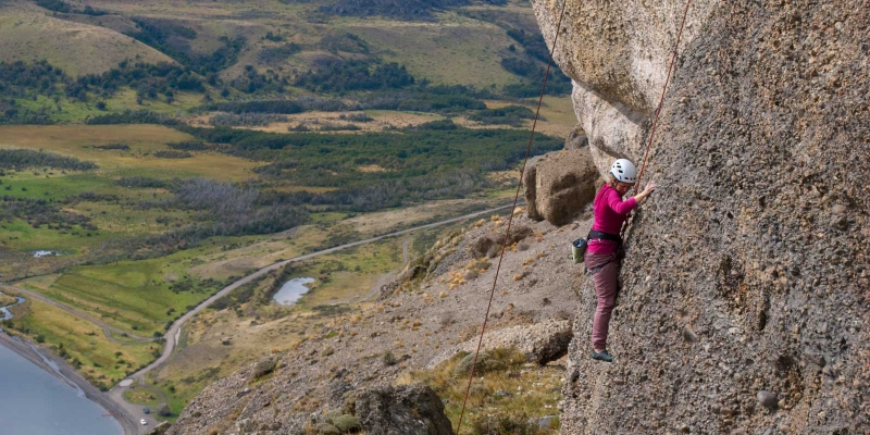Lisa Climbing on Top Rope