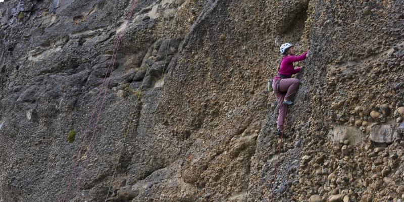 Lisa Rock Climbing